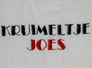 Voorzijde voor badjassen cast Kruimeltje - de musical