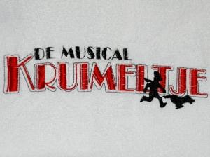 Rug voor badjassen cast Kruimeltje - de musical