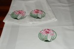Raspberry Craft Table Linen Art Deco 003