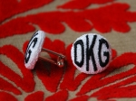 Monogram cufflinks - made to order